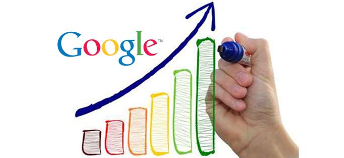 Gráfico de pesquisas do google